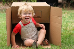 Toddler with a Box